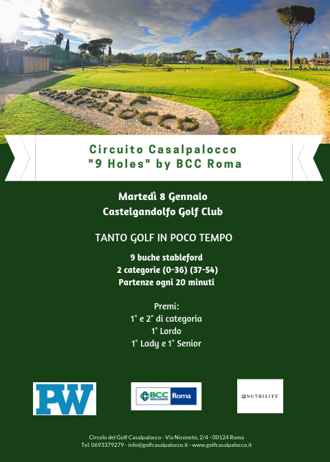 3^ Tappa - Martedì 8 Gennaio - Castelgandolfo
